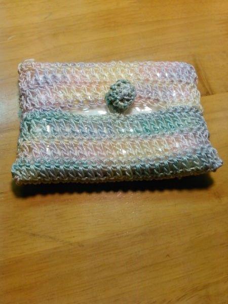 手編みポケットティッシュケース