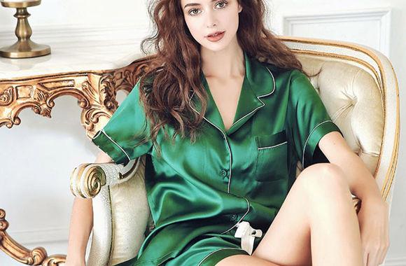 (MAYUDAMAシルク)贅沢シルク100% シルク パジャマ レディース 夏 半袖 前開き 上下セット 2ピースセット 知的でエレガント ルームウェア 大きなサイズ 選べるサイズ・カラー
