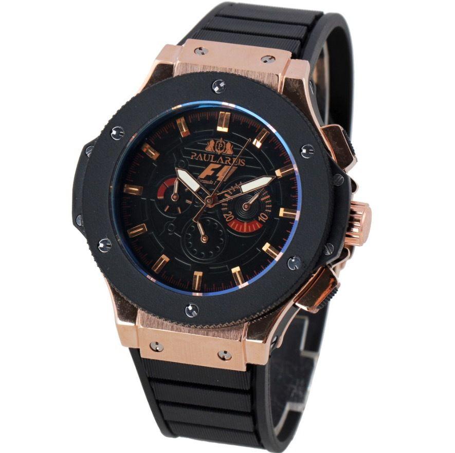 PAULAREIS 自動巻き 機械式腕時計 ラバーストラップ 3気圧防水 48mm F1