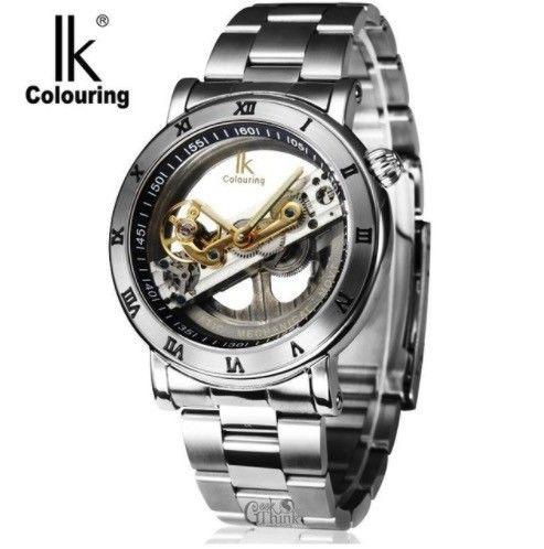 IK Colouring 自動巻き 機械式腕時計 メンズ スケルトン トゥールビヨン風