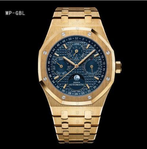DIDUN メンズ 機械式腕時計 自動巻 ムーンフェイズ 高級ブランド ステンレス8色展開