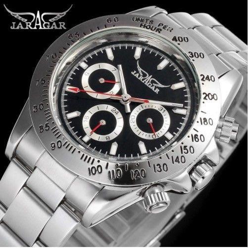 JARAGAR メンズ 機械式腕時計 自動巻  高級トップブランド 3ダイアル 4色展開