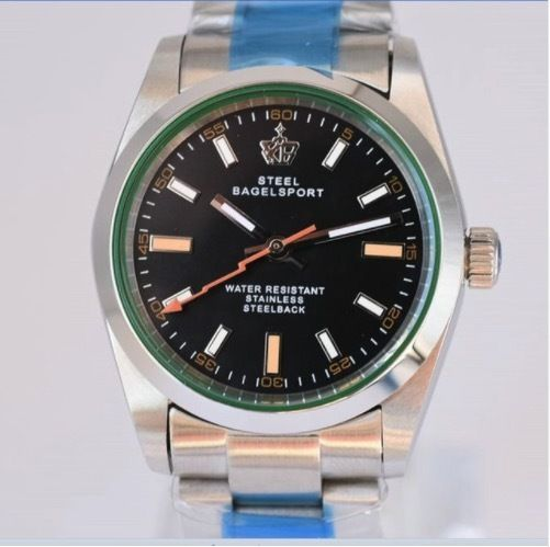 SteelBagelsport 自動巻き 機械式腕時計 ステンレス 36mm  A019 6色展開