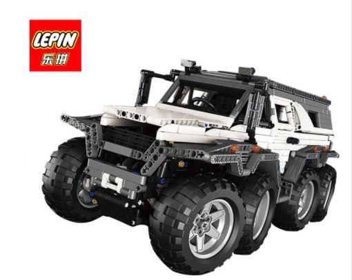 LEPIN レゴ互換 オフロードカー テクニック 23011 2861ピース ブロックおもちゃ ホワイト