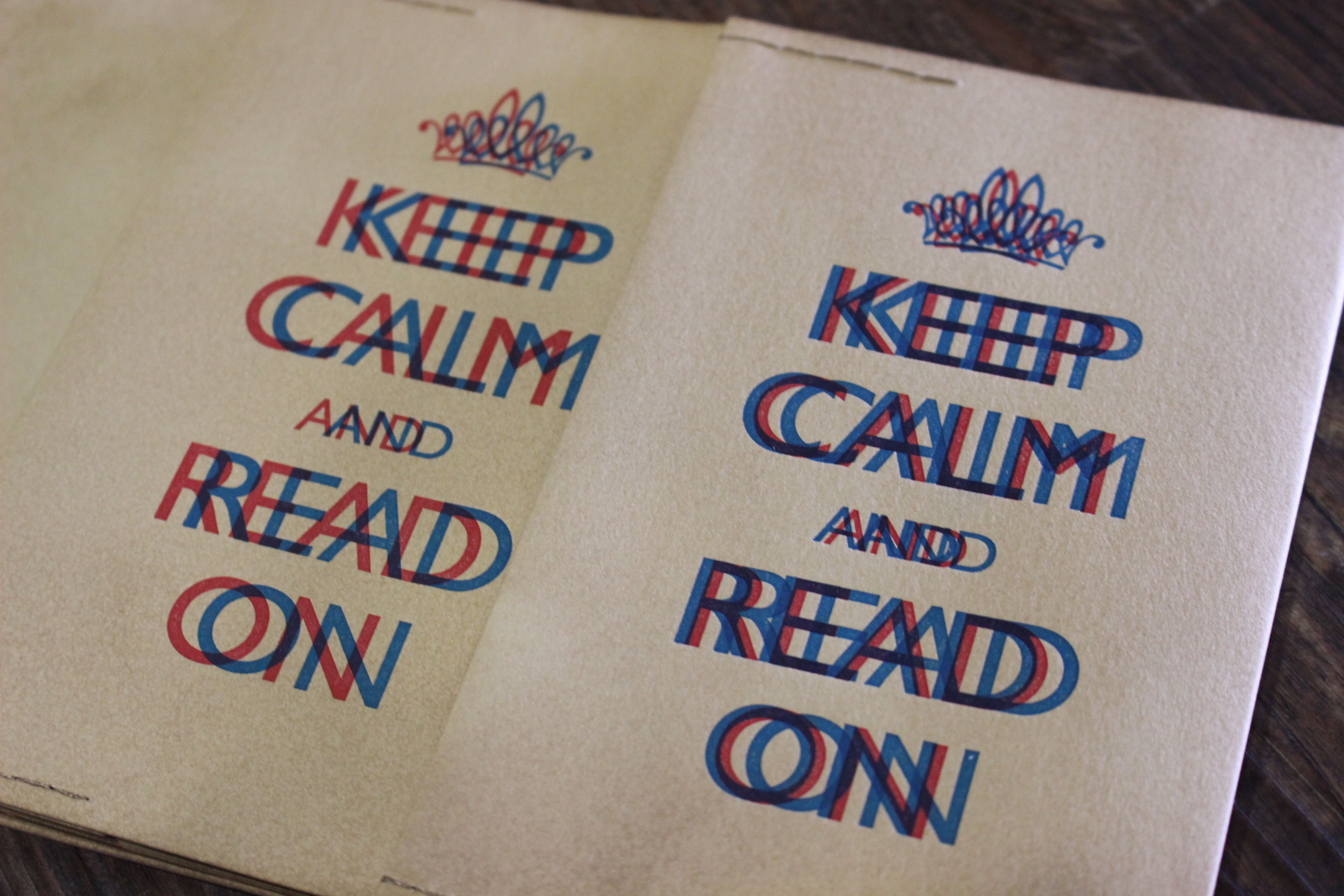 KEEP CALM AND READ ON  ブックカバー (版ズレ) 2個セット