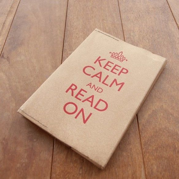 KEEP CALM AND READ ON  ブックカバー(red)