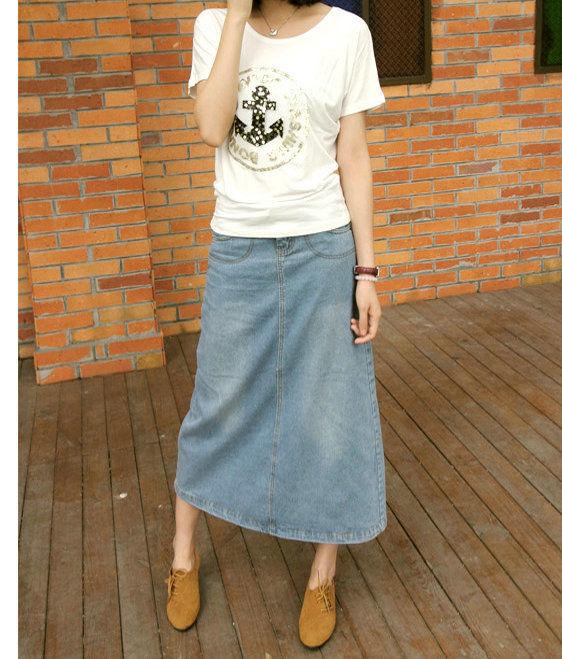色落ち デニム スカート YMSW3354