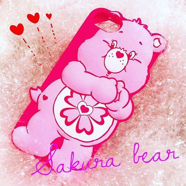 【日本限定】Care bears シリコンケース ラブアロットベア?for iPhone8/7/6s/6