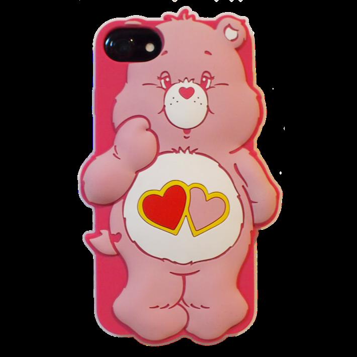 Care bears シリコンケース ラブアロットベア?for iPhone8/7/6s/6