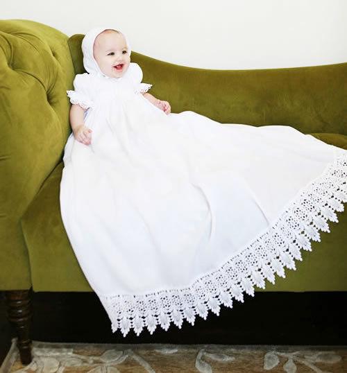 (レンタル)ロングロングエンパイアベビーセレモニードレス「The Victoria」newborn-3months・出産祝い・ファーストフォト