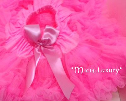 (レンタル)プリンセスチュチュショート☆【ホットピンク】0-5才 ハーフバースデー・結婚式・誕生日