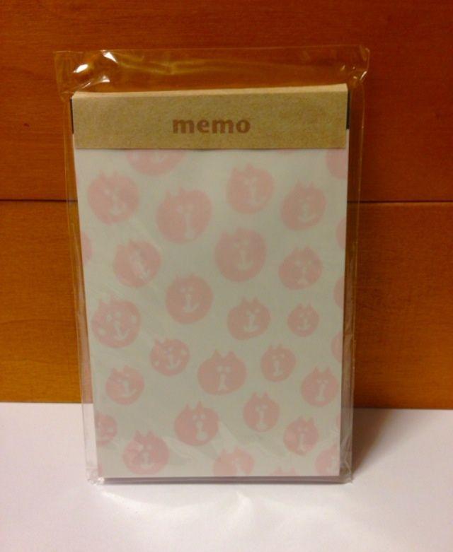 ねこメモ帳 ピンク