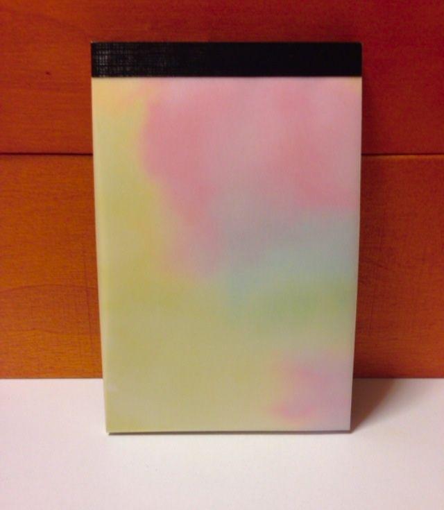 水彩模様のグラデーションメモ帳
