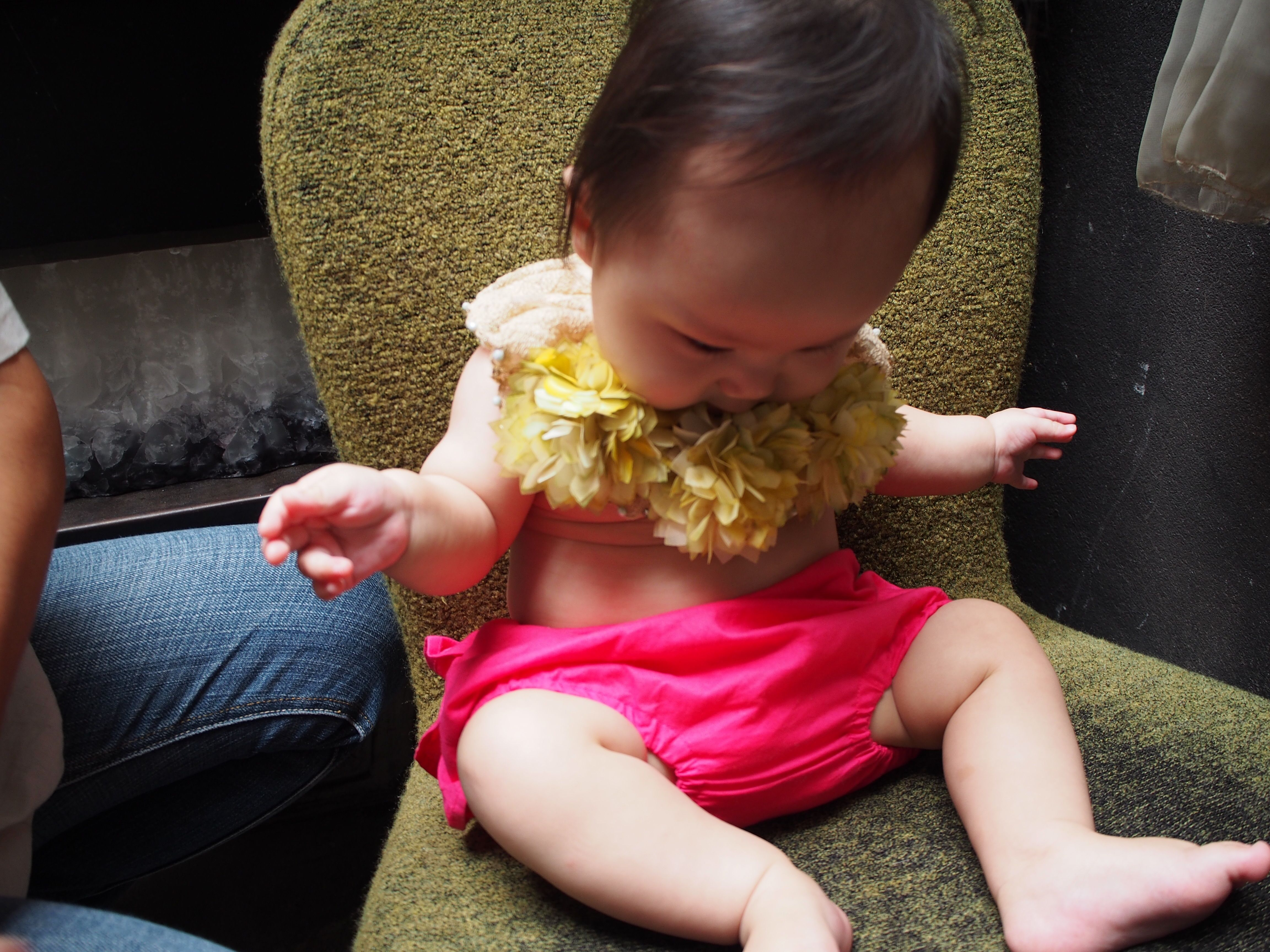 11月誕生花 マリーゴールド ヘッドドレス&付け襟