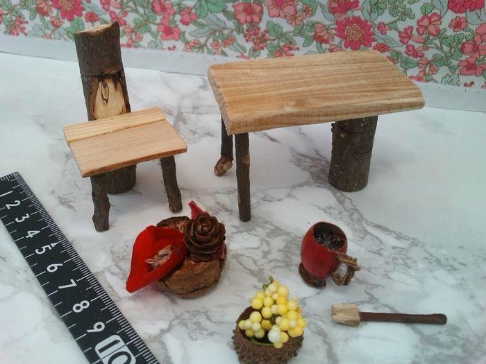 /12:森のランチタイム!カントリー風家具セット