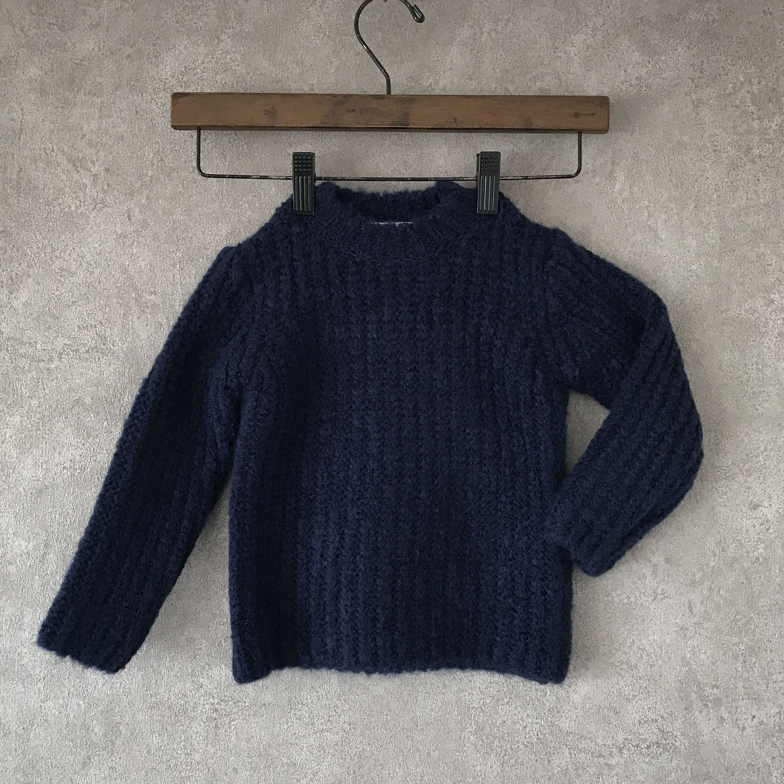 KIDS  basic  knit  ??  navy  男女兼用