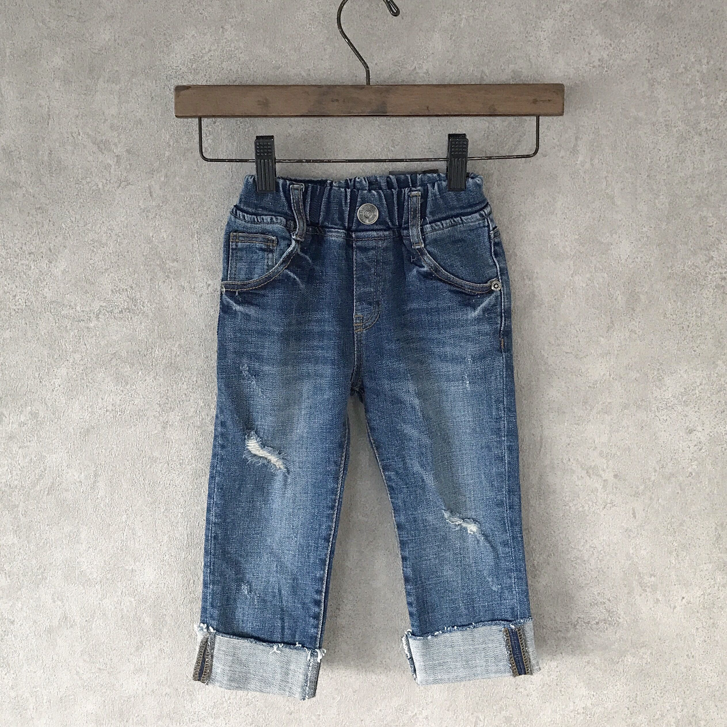KIDS  crash   denim  ??  blue  男女兼用