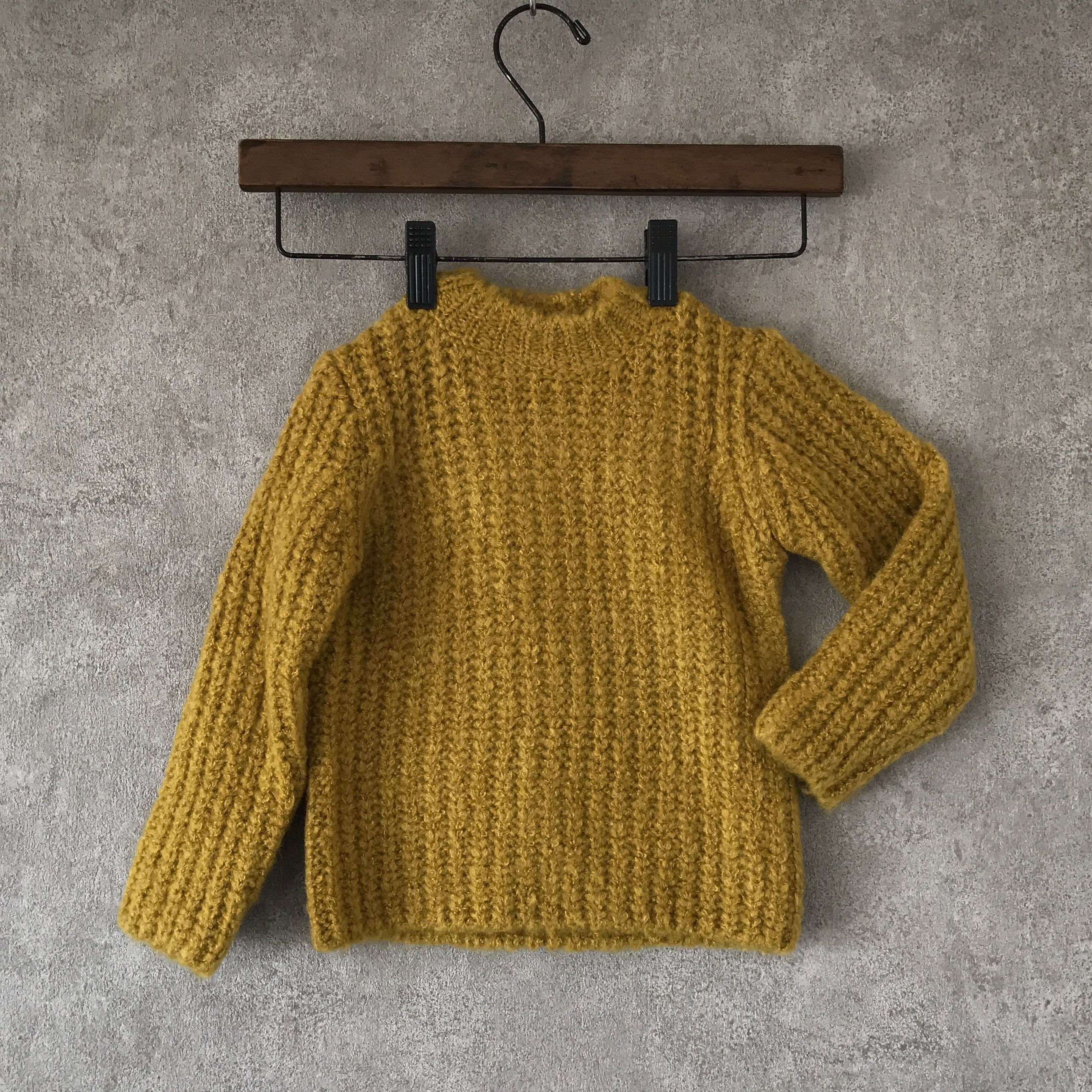 KIDS  basic  knit  ?? yellow  男女兼用