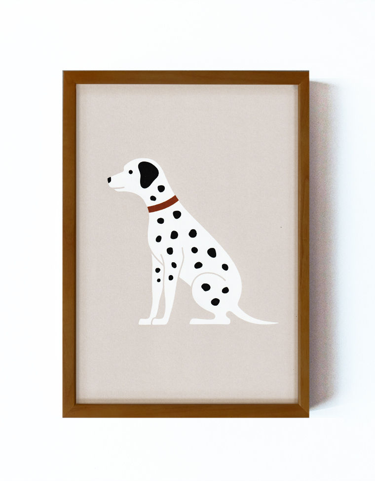 Art Poster Dalmatian