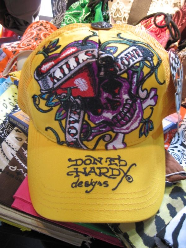 Ed Hardy LOVE KILLS SLOWLY BASIC CAP(YEL)