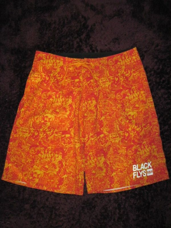 Black Flys BF COLLAGE SURF TRUNKS RED