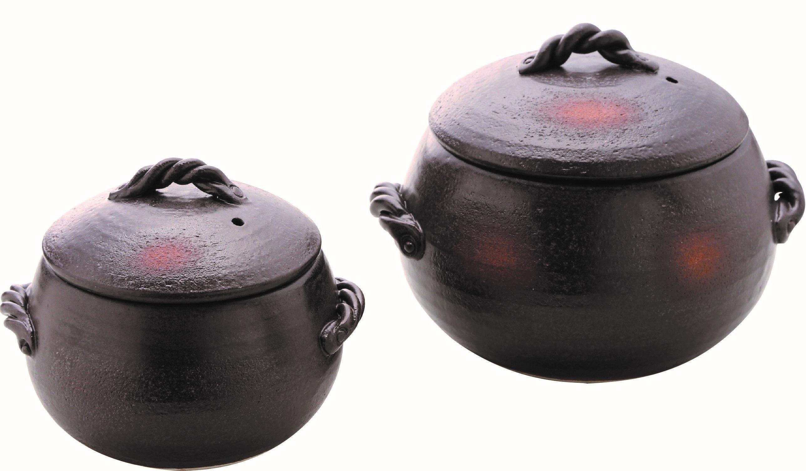 くり型ごはん鍋 ブラウン(3合用) 98-388-09