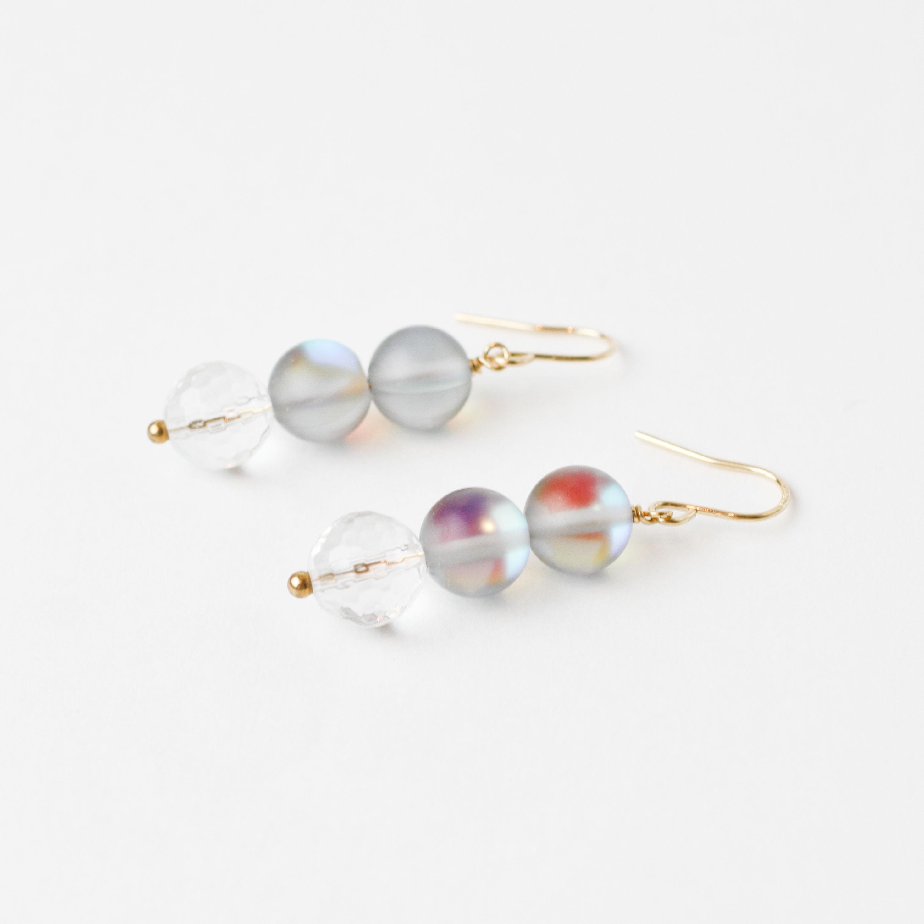 Luna flash×Crystal pierce / earring (mn-pi-089-b)