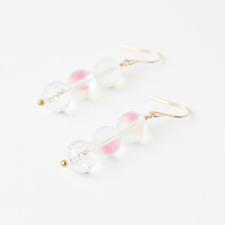 Luna flash×Crystal pierce / earring (mn-pi-089-a)