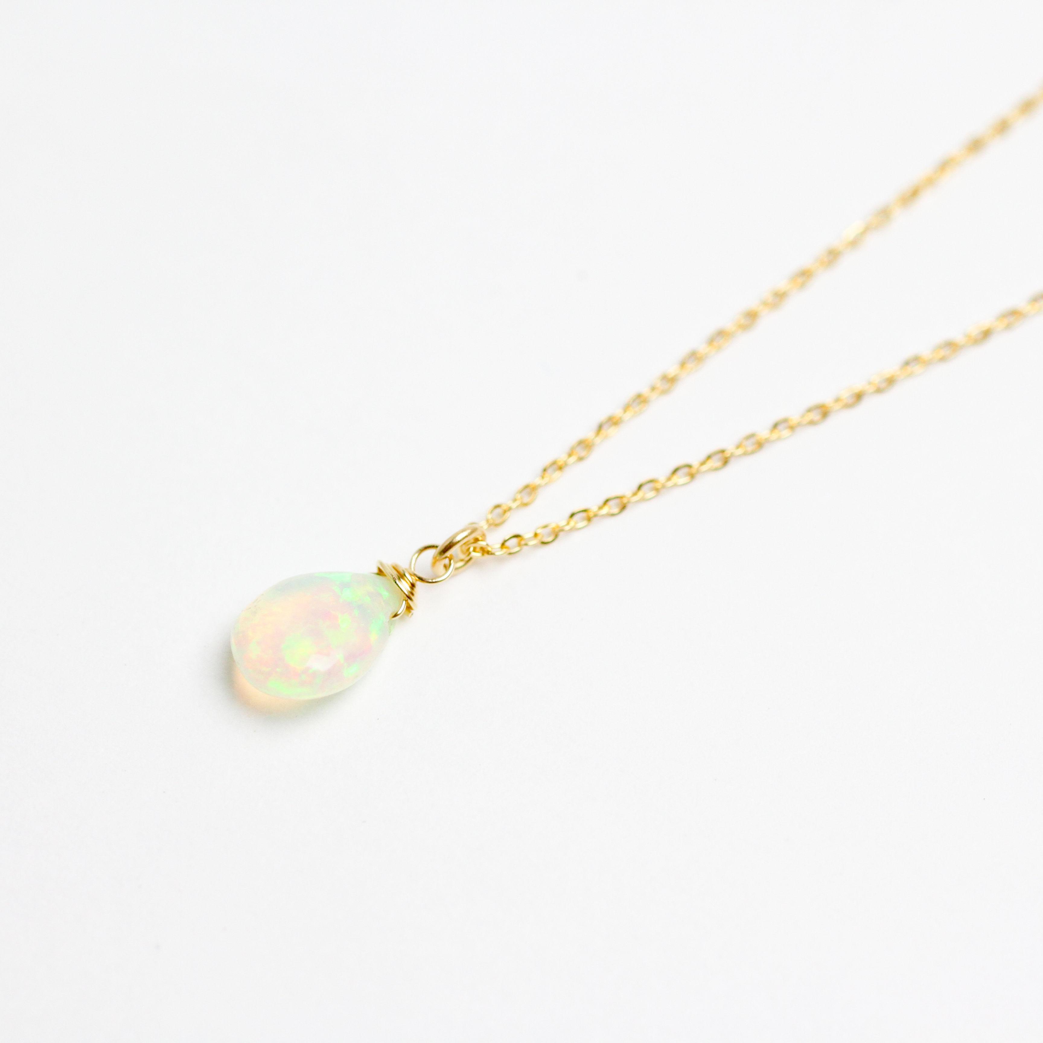 【10月の誕生石】Ethiopian Opal necklace(mn-nk-001-op)