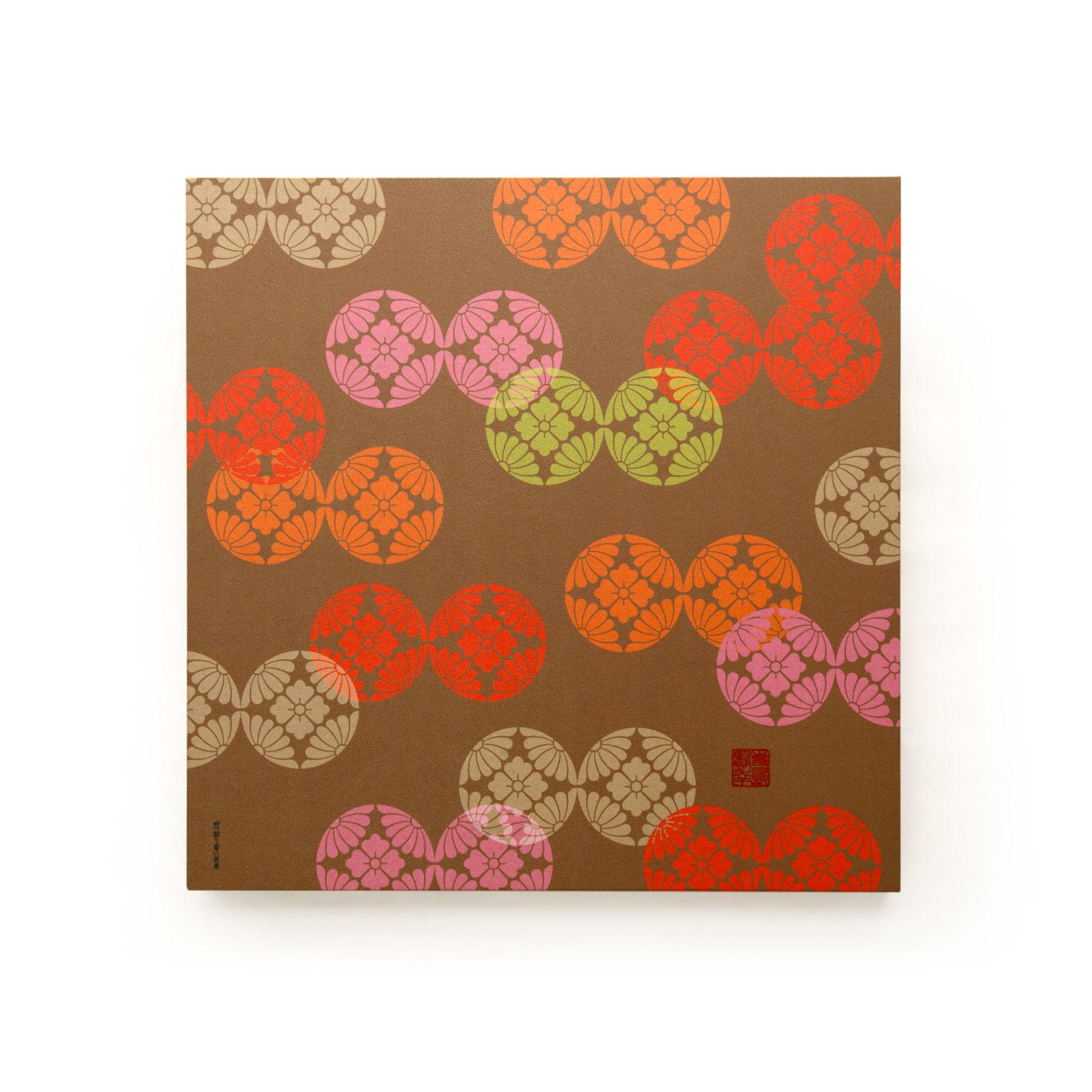 グラフィックパネル 「四つ割菊と花角」
