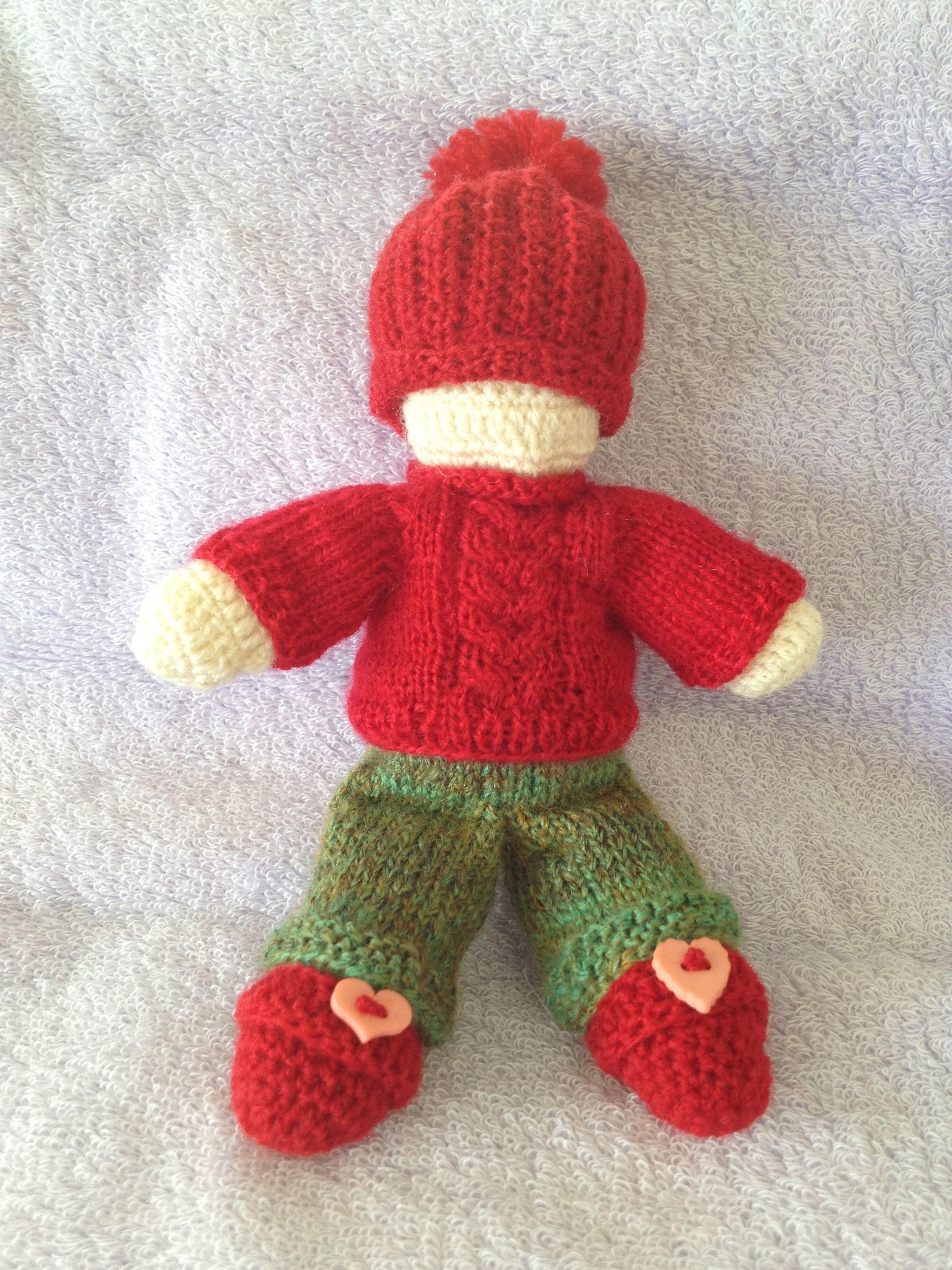 編みぐるみ MISETちゃん人形 赤いセーター