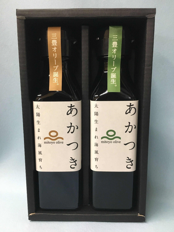 【お中元用セット】「あかつき 味比べギフト」(100g×2本)