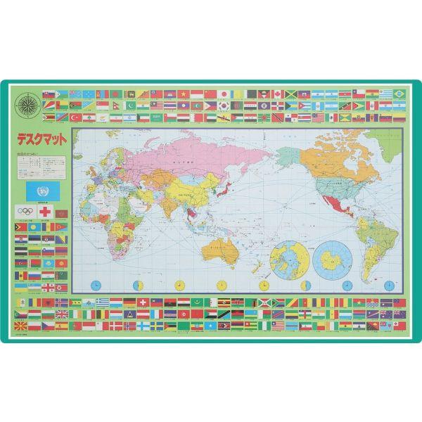 コンパクト学習マット 世界地図