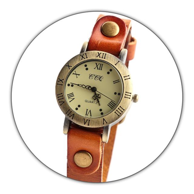 レザーウォッチ 腕時計 メンズ レディース シンプル ギフト 人気 プレゼント 時計 おしゃれ 安い かわいい プチプラ ブレスレット 敬老の日 橙色 オレンジ アンティーク