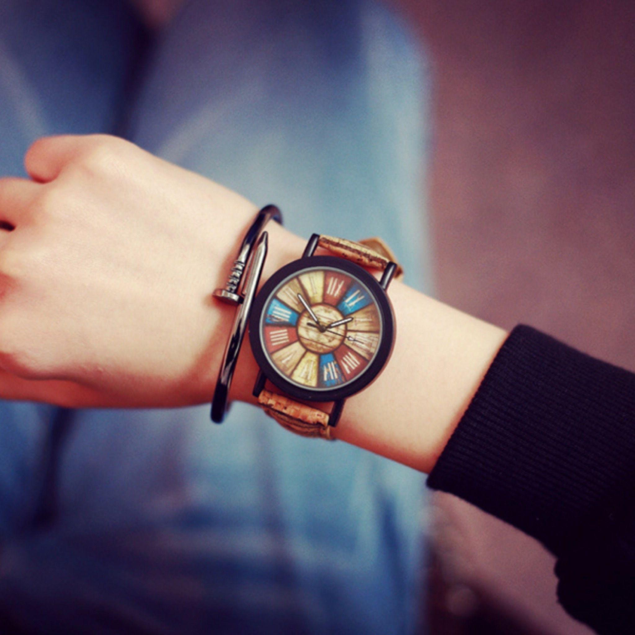 ウッドテイストウォッチ メンズサイズ 腕時計 シンプル ギフト 人気 プレゼント 時計 おしゃれ 安い かわいい プチプラ ブレスレット コルク