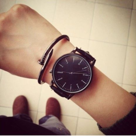 シンプルウォッチ ブラック メンズサイズ  腕時計 シンプル ギフト 人気 プレゼント 時計 おしゃれ 安い かわいい プチプラ ブレスレット