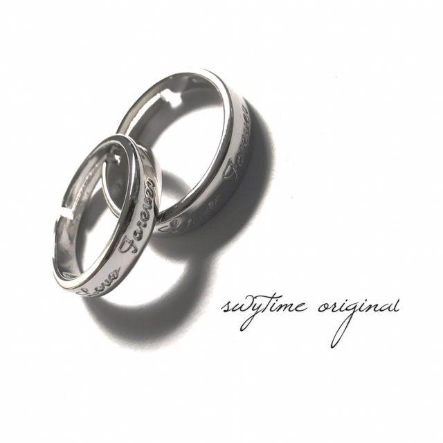 サイズが調整できるペアリング シルバー925 プレゼント 記念日 誕生日 贈り物 アクセサリー 結婚指輪 ジュエリー ギフト  シンプル  カップル  メンズ レディース 10
