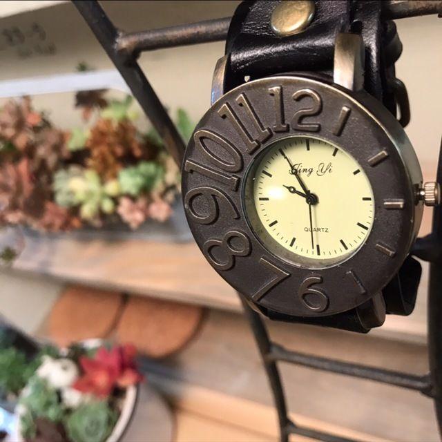 アシンメトリーが可愛い腕時計 ペアウォッチ メンズ レディース シンプル ギフト 人気 プレゼント 時計 おしゃれ 安い ブレスレット黒 ブラック レザー