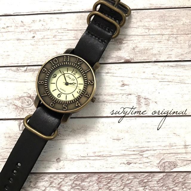 レザーウォッチ ブラック 腕時計 メンズ レディース シンプル ギフト 人気 プレゼント 時計 おしゃれ 安い かわいい プチプラ ブレスレット 黒
