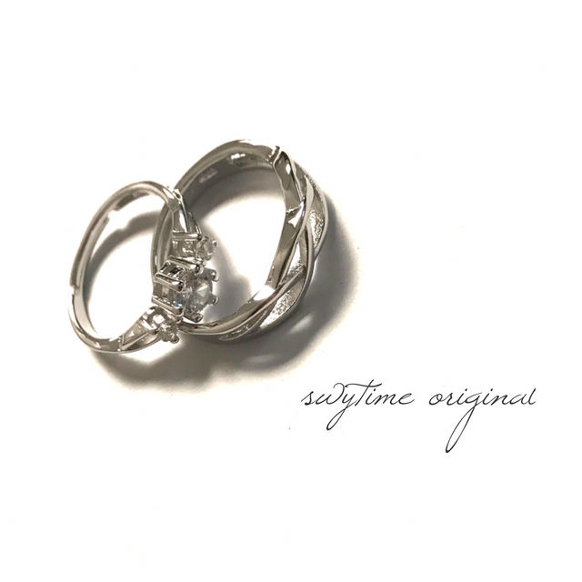 サイズが調整できるペアリング シルバー925 プレゼント 記念日 誕生日 贈り物 アクセサリー 結婚指輪 ジュエリー ギフト  シンプル  カップル  メンズ レディース 18