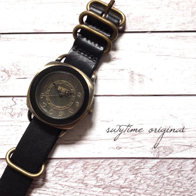 レザーウォッチ ブラック 腕時計 メンズ レディース シンプル ギフト 人気 プレゼント 時計 おしゃれ 安い かわいい プチプラ ブレスレット   黒 アンティーク
