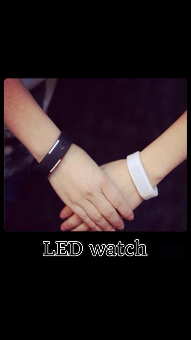 カジュアル LED ペアウォッチ セット