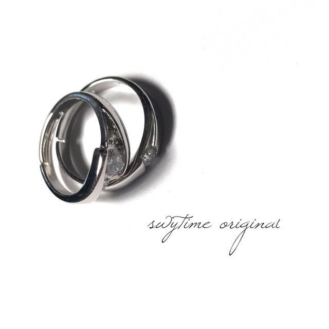 サイズが調整できるペアリング シルバー925 プレゼント 記念日 誕生日 贈り物 アクセサリー 結婚指輪 ジュエリー ギフト  シンプル  カップル  メンズ レディース 4