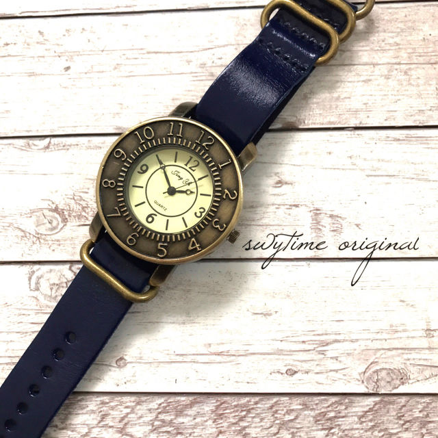 レザーウォッチ ブルー 腕時計 メンズ レディース シンプル ギフト 人気 プレゼント 時計 おしゃれ 安い かわいい プチプラ ブレスレット 敬老の日 青 アンティーク