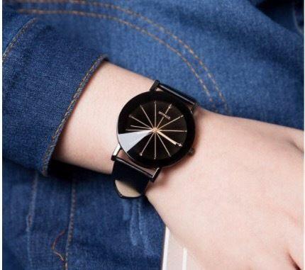 クリアウォッチ ブラック メンズサイズ シンプル ギフト 人気 プレゼント 時計 おしゃれ 安い かわいい ブレスレット 腕時計 黒