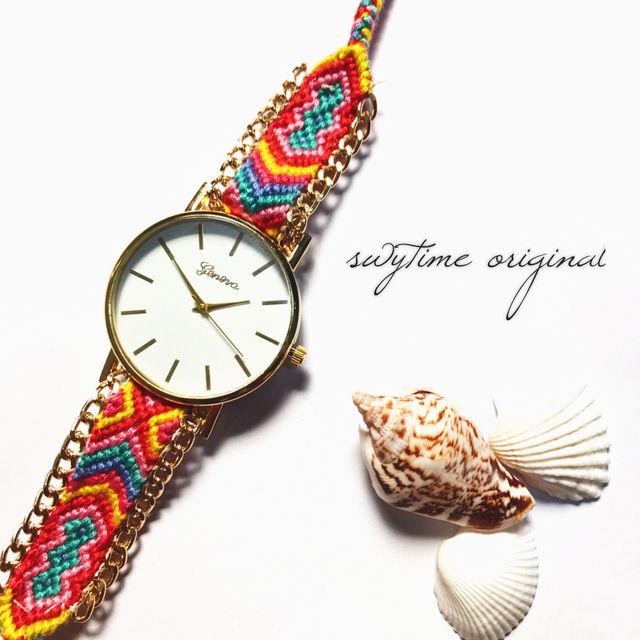 ミサンガウォッチ フリーサイズ 腕時計 レディース シンプル ギフト 人気 プレゼント 時計 おしゃれ 安い かわいい プチプラ ブレスレット  ボヘミアン