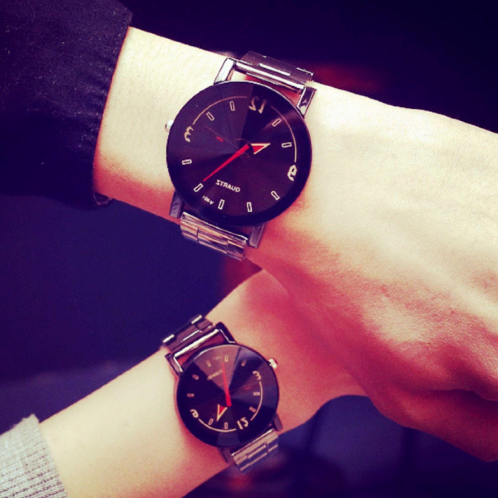 【ペア価格】クリアペアウォッチ ブラック レディース×メンズ シンプル ギフト 人気 プレゼント 時計 おしゃれ 安い かわいい スケルトン ブレスレット 腕時計 黒