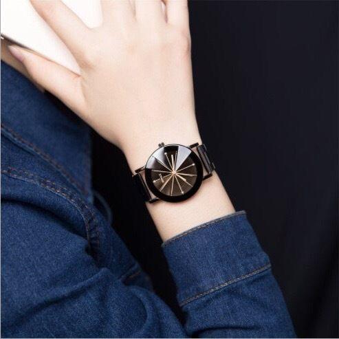 クリアウォッチ ブラック レディースサイズ シンプル ギフト 人気 プレゼント 時計 おしゃれ 安い かわいい ブレスレット 腕時計 黒
