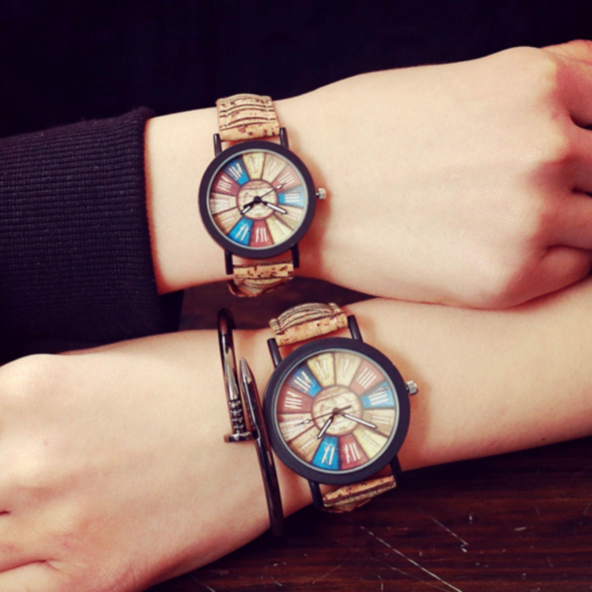 ウッドテイストペアウォッチ レディース メンズ 腕時計 シンプル ギフト 人気 プレゼント 時計 おしゃれ 安い かわいい プチプラ ブレスレット 激安  コルク