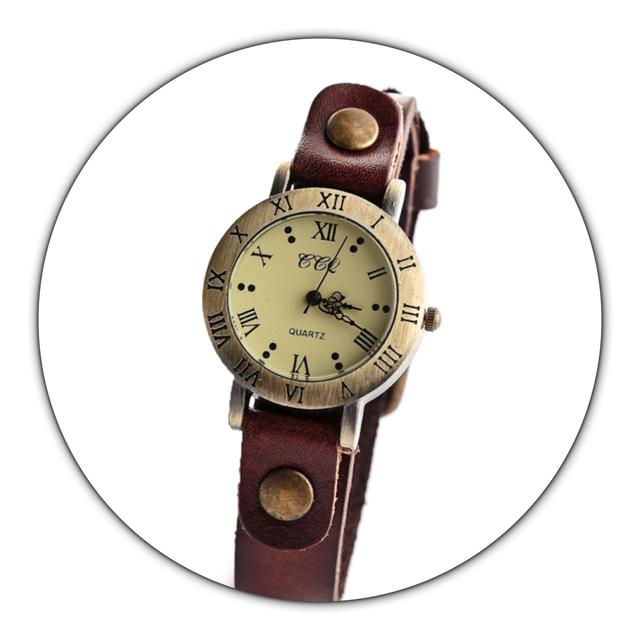【刻印可能】レザーウォッチ 腕時計 メンズ レディース シンプル ギフト 人気 プレゼント 時計 おしゃれ 安い かわいい プチプラ ブレスレット 敬老の日  茶色 ダークブラウン アンティーク
